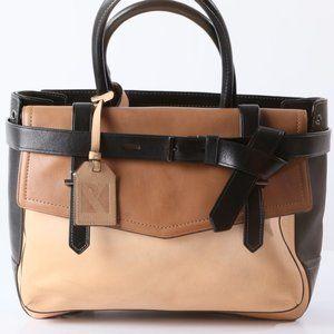 REED KRAKOFF 3 Tone Leather Beige Tote Handbag